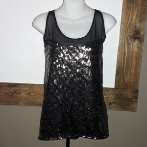 Womens sz S Francesca sequin top NWT